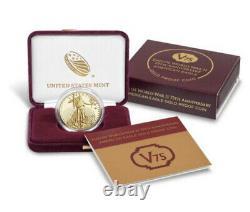 Fin De La Seconde Guerre Mondiale 75e Anniversaire American Eagle Gold Proof Coin 2020 In Hand