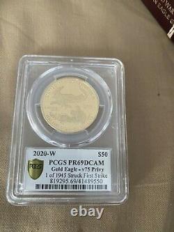 Fin De La Seconde Guerre Mondiale 75e Anniversaire American Eagle Gold Proof Coin V75 Pr69