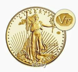 Fin De La Seconde Guerre Mondiale V75 American Eagle Gold Proof Coin. Pcgs 70
