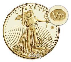 Graded Pr69 2020 Fin De La Seconde Guerre Mondiale 75e Anniversaire American Eagle Gold Coin (20xe)