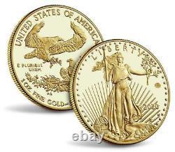 In-hand 2020 Fin De La Seconde Guerre Mondiale 75e Anniversaire American Eagle Gold Proof Coin