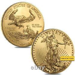 Lot De 2 1 Oz Gold American Eagle $50 Coin Bu (random Year)
