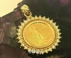 Noël- 2020 Gold American Eagle 14-kt Gold 1-carat Diamond Bezel -$1,148.88