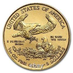 Nouveau 2021 $ 5 Gold American Eagle Gem Coin (1/10e Oz. Obligatoire) 318,88 $