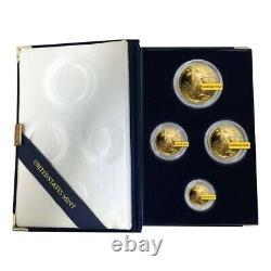 Or American Eagle 1,85 Oz Proof 4 Coin Set (random Année, Withbox & Coa)