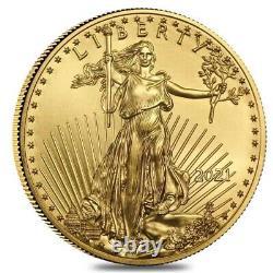 Ordre Confirmé! Dernière Conception American Eagle 2021 One Ounce Gold Proof Coin 21eb