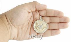Plus De Diamant En Or Jaune 10k Sceau Du Président Américain American Eagle Charm Pendentif