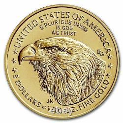 Prévente 2021 1/10 Oz American Gold Eagle Ms-70 Pcgs (fs, Type 2)