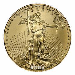 Prévente 2021 $50 American Gold Eagle 1 Oz Brilliant Uncirculated