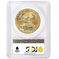 Prévente 2021 $50 American Gold Eagle 1 Oz Pcgs Ms70 Fdoi Flag Label