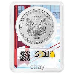Prévente 2021 (s) $1 American Silver Eagle Pcgs Ms70 Emergency Issue Fdoi Golde