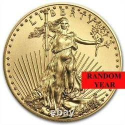 Random Année 1/2 Oz Or American Eagle Coin Bu In Stock