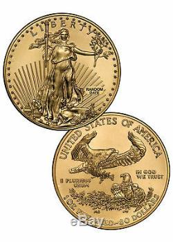 Random Date 1 Oz D'or American Eagle 50 $ Gem Bu Coin Sku26177