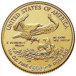 Random United States Gold Eagle 1/10 Oz Pièce