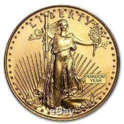 Us Mint 1/10 Oz D'or American Eagle Aléatoire Date 5 $ Gold Coin Bu